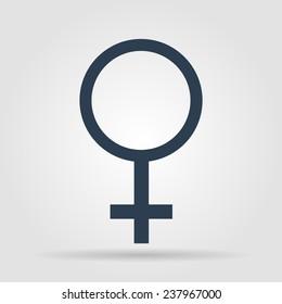 female sign icon. Flat