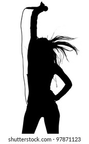 Female Singer Silhouette Images, Stock Photos & Vectors ...