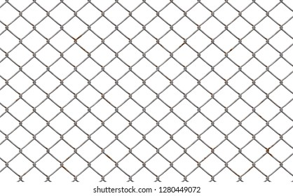 fence chain link isolated 3d illustration 45x28cm 300dpi