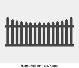Fence isolated on background. 3d rendering - illustration