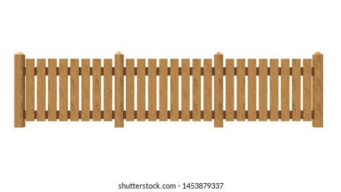 Fence isolated on White 3D Rendering