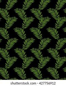 Fern pattern on black background digital drawing