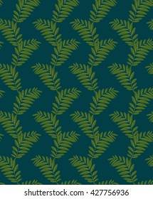 Fern pattern on colored background digital drawing