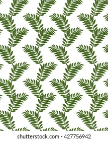 Fern pattern on white background digital drawing