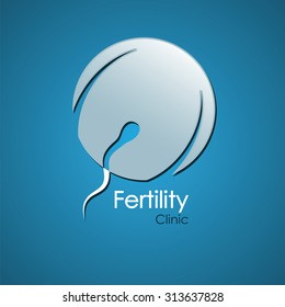Fertility clinic logo, fertility medicine, obstetrics, pregnancy symbol