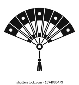 Festival hand fan icon. Simple illustration of festival hand fan icon for web design isolated on white background