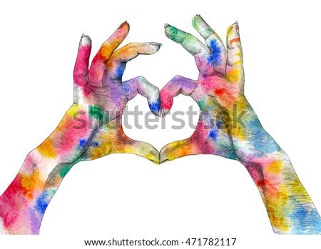 Royalty Free Stock Illustration Of Festival Holi Poster Hands Making