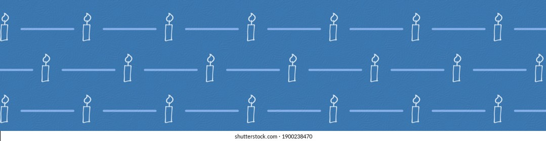 Festive candle illustration for decorating birthday parties, events and holidays such as Hanukkah and Christmas, for greetings, wrapping and greeting cards full of light and joy