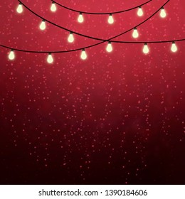 Festive style background with light bulbs