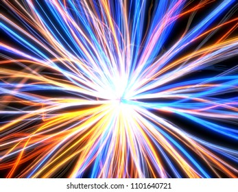 fiber optic cable style abstract design. 3d illustration