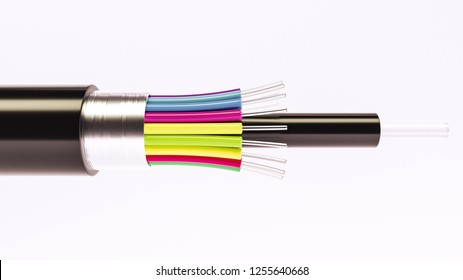 Fiber optical cable detail - Highspeed cable - 3D Rendering