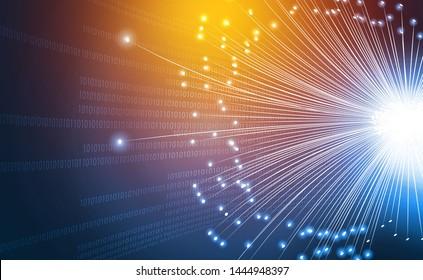 Fiber optics abstract  background. Digital illustration - Shutterstock ID 1444948397
