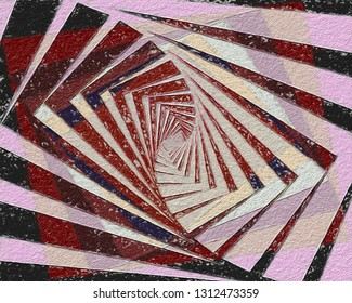 fibonacci logarithm spiral art with rough paper texture abstract background