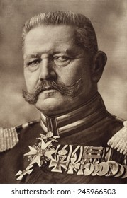 Field Marshall Paul von Hindenburg, Commander-in-Chief of the German armies from 1916-1918.