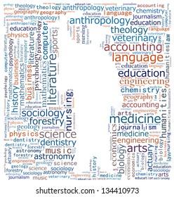Fields of tertiary studies