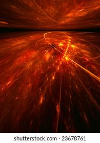 Fiery Electrons - 3D fractal landscape