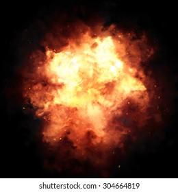 Asian orange bomb blast