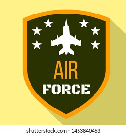 Fighter air force logo. Flat illustration of fighter air force logo for web design