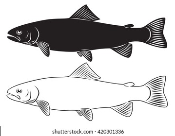 the figure shows a trout