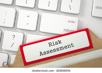 File Card with Risk Assessment. 3d.