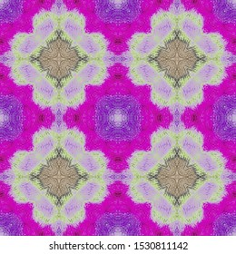 Filigree Ornament. Iris Violet Fabric Artwork. Lilac Purple Kilim Fabric. Mulberry Bohemian Patchwork. Burgundy Zigzag Ikat Print. Mauve Floral Kitchen Pattern. Pink Folkloric Border.