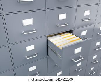 Filing Cabinet , 3d render