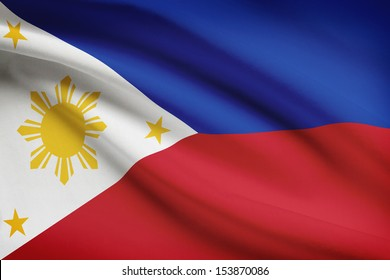 Filipino flag blowing in the wind. Part of a series.
