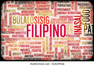 Filipino Food and Cuisine Menu Background with Local Dishes