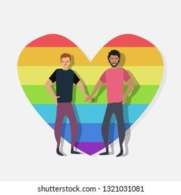 Filled homosexual super icon. Homosexual illustration for graphic design. Homosexual symbol.