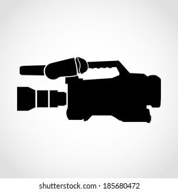 Film Camera Icon Isolated on White Background Raster