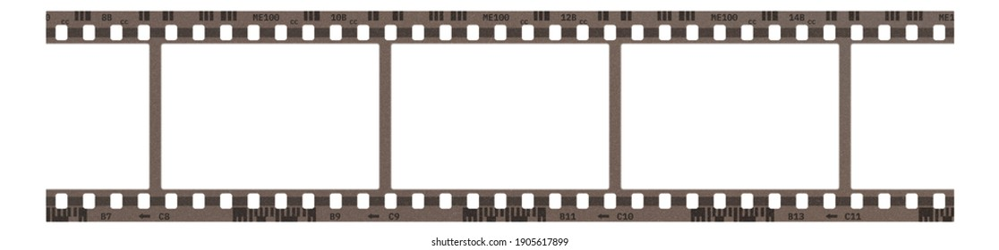 Film frame photo strip high-resolution blank filter. 35mm scan template texture effect. Trendy editable camera roll social stories design. 135 type isolated vintage analog cinema empty scratches.