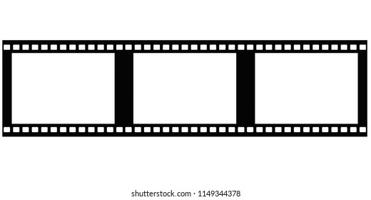 Film isolated on white background, 3D rendering