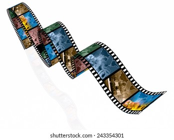 Film Roll Color Pictures Communication Stock Illustration