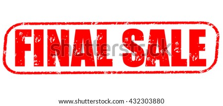 Final Sale Stamp On White Background
