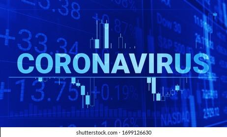 finance chart candlestick coronavirus concept graph