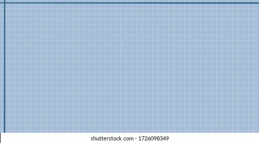 Financial business education grid paper note concept background simple square white blue with thick line.
