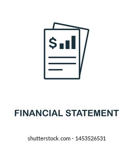 Financial Statement icon illustration. Creative sign from investment icons collection. Filled flat Financial Statement icon for computer and mobile. Symbol, logo graphics.