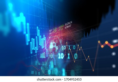 financial stock market graph illustration ,concept of business investment and stock future trading.