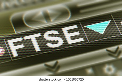 The Financial Times Stock Exchange 100 Index. 3D Illustration.