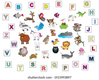 find animal with its initial letter