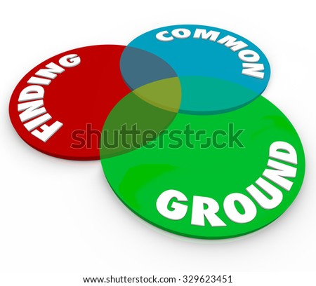 Finding Common Ground Venn Diagram 3 Stock Illustration 329623451