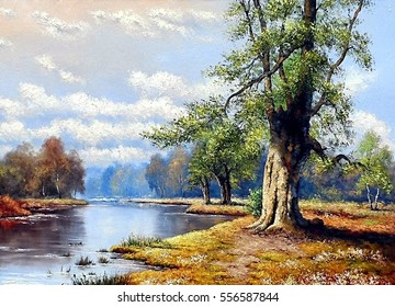 Fine Art Landscape River Oil Paintings