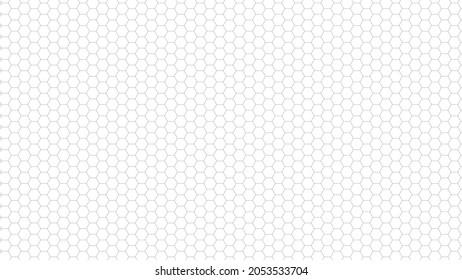 白黒の細いハニカム格子