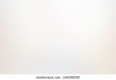 Fine lines intersected plain pattern. Brilliance grid background. Subtle glow material texture. Shiny pastel mesh backdrop. White beige iridescent flare surface.