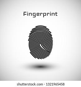 Finger-print Scanning Identification System. Biometric Authorization and Business Security Concept.