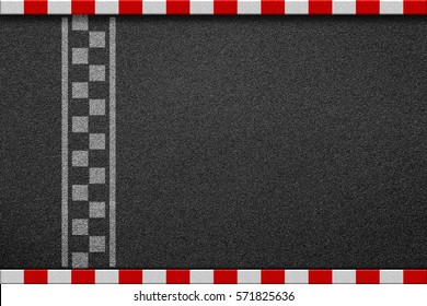 Finish line racing background top view