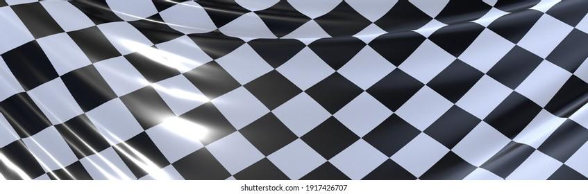 finish race flag digital 3d