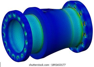 finite element analysis - 3D Illustration
