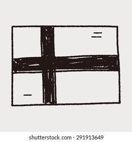 Finland  flag doodle