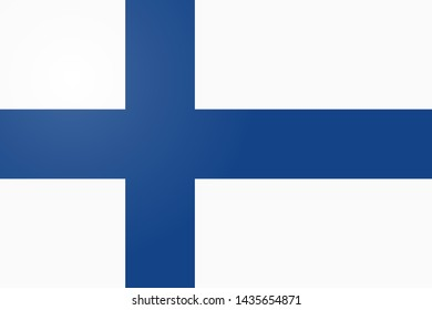 Finland flag, official colors and proportion correctly. National Finland flag. Flat  illustration. .